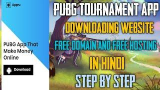 How To Make a PUBG Tournament App Downloading Website Free || Free Hosting + Free Domain In Hindi